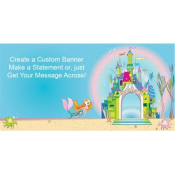 Mermaid Princess Custom Banner