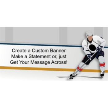 Hockey Player Custom Banner