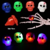 Assorted Color LED Skull Jelly Rings