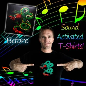 Flashing Dragon LED T-Shirt