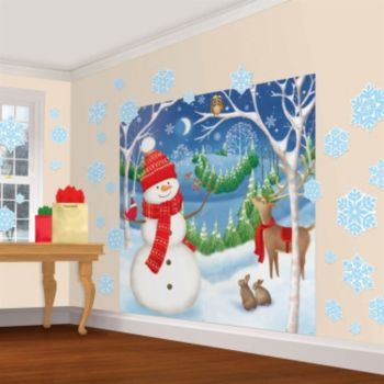 Winter Friends Scene Setter Wall Decorating Kit