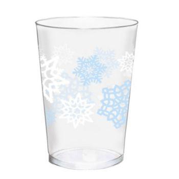 Snowflake Plastic Tumblers - 40 Pack