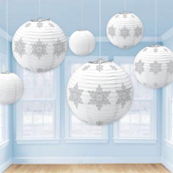 Snowflake Holiday Lantern Set - 6 Pack