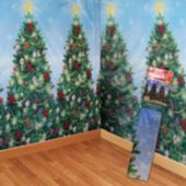 Christmas Tree Scene Setter Room Roll