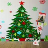 Whimsical Christmas Tree Wall Decorating Kit