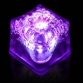 Purple LED Lited Ice Cubes - 12 Pack