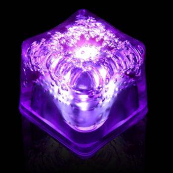 Purple LED Lited Ice Cubes - 12 Pack