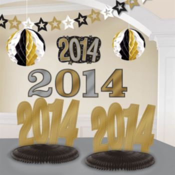 Black, Silver, and Gold 2014 Decorating  Kit