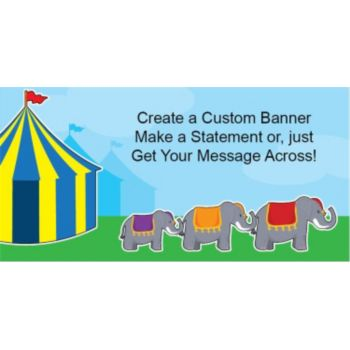 Circus Elephants Custom Banner