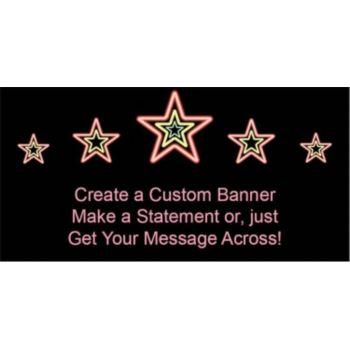 Electric Neon Stars Custom Banner