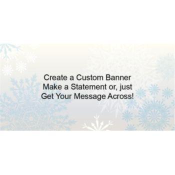 Snowflake Wonderland Custom Banner