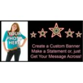 Electric Neon Stars Custom Photo Banner