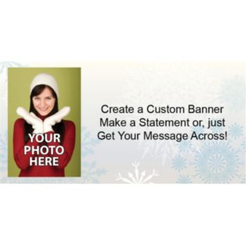 Snowflake Wonderland Custom Photo Banner
