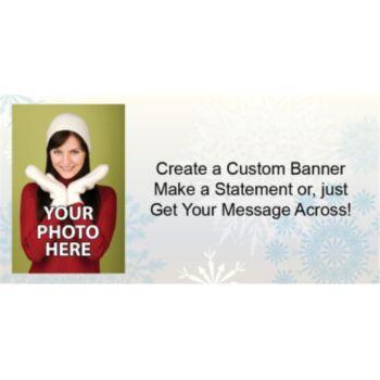 Snowflake Wonderland Custom Photo Banner