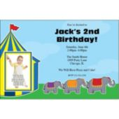 Circus Elephants Personalized Photo Invitations