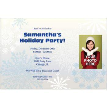Snowflake Wonderland Personalized Photo Invitations