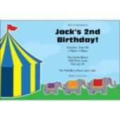 Circus Elephants Personalized Invitations
