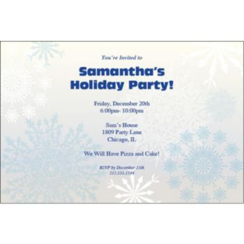 Snowflake Wonderland Personalized Invitations