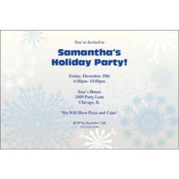 Snowflake Wonderland Personalized Invitations