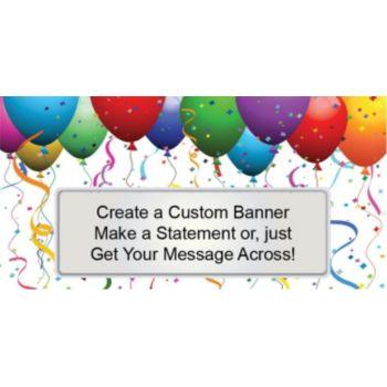 Balloon Celebration Custom Banner