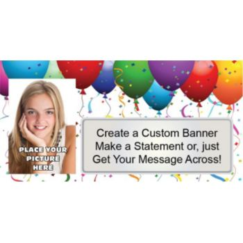 Balloon Celebration Custom Photo Banner