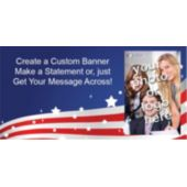 Stars And Stripes Custom Photo Banner