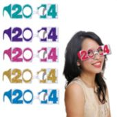Multi-Color 2014 Glitter Glasses