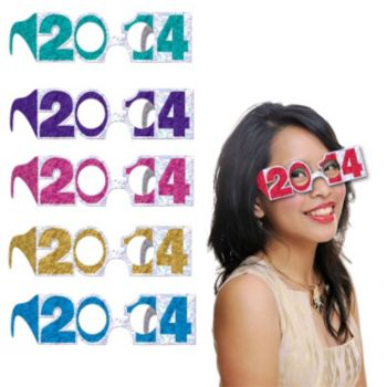 Multi-Color 2014 Glitter Eyeglasses
