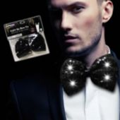Black Sequin LED and Light-Up Bow Tie