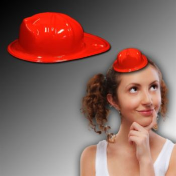 Red Mini Firefighter Hats - 12 Pack
