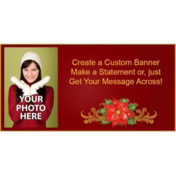 Poinsettia Custom Photo Banner