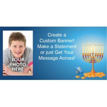 Hanukkah Party Custom Photo Banner