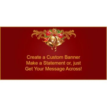 Holiday Bells Custom Banner