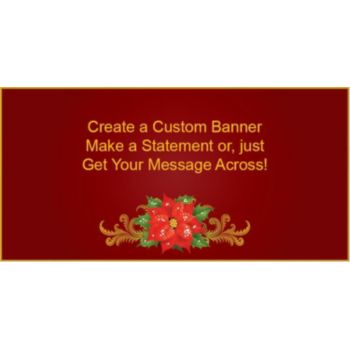 Poinsettia Custom Banner