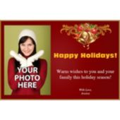 Holiday Bells Personalized Photo Invitations