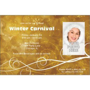 Golden Circles Personalized Photo Invitations