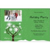Christmas Tree Wishes Personalized Photo Invitations