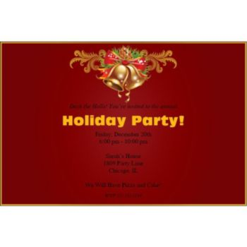 Holiday Bells Personalized Invitations