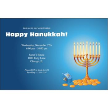 Hanukkah Party Personalized Invitations