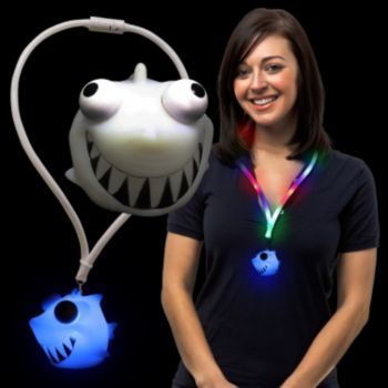 Squeeze Shark LED Lanyard Necklace