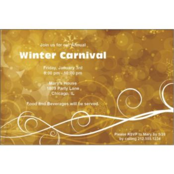 Golden Circles Personalized Invitations