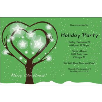 Christmas Tree Wishes Personalized Invitations