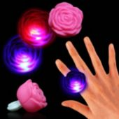 Pink LED Rose Ring