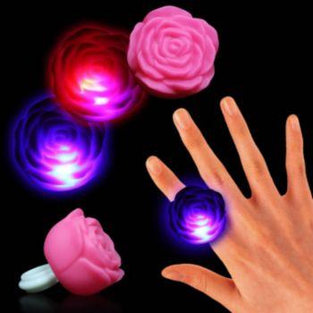 Pink LED Rose Ring
