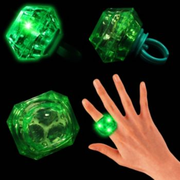 Green LED Diamond Ring