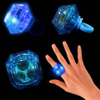 Blue LED Diamond Ring