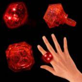 Red LED Diamond Ring