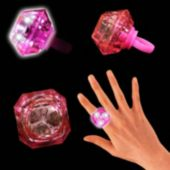 Pink LED and Light-Up Diamond Ring