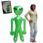"Green Inflatable 72"" Jumbo Alien - 12 Pack"