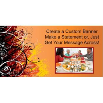 Fall Elegance Custom Photo Banner